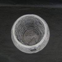 【小宝】冰花玻璃花瓶/裂纹/鱼缸 水培/水晶玻璃花器 碎冰花摆件