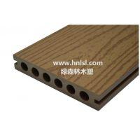 供应绿森林木塑空心地板_长沙木塑地板(LSLH-007)