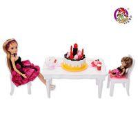 正品乐吉儿生日派对H29B洋布芭比娃娃套装大礼盒2015公主女孩玩具