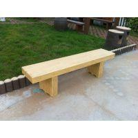 供应郑州天艺仿木平板坐凳、园林景观椅子、公园休闲坐凳椅