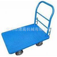 厂家供应 单层铁板平板车  固定花纹钢板型  欢迎选购