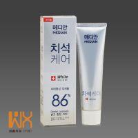韩国 aml maidian 86美白牙膏有效去黄洁白牙齿 白色款