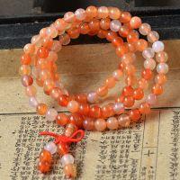 【全网】天然108颗佛珠花玛瑙项链手链 花玉髓水晶时尚饰品