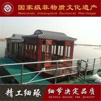 山东哪有木船卖 提供手工制作大型画舫木船 公园景区电动观光餐饮船 木船厂