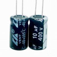 创慧铝电解电容器10UF 400V 10*13MM 高纹波长寿命耐高温105℃