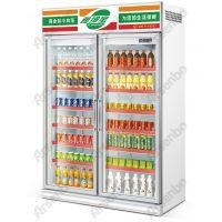 便利店展示柜/美宜佳冰柜/展示柜/天福冷藏柜/双门双边框展示柜/饮料陈列柜