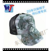 帽厂直销复古漆面网帽 独特神秘艺术帽子 流行遮阳货车帽 卡车帽