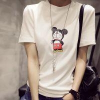2015夏季中袖女t恤学生半袖大码女装夏装韩版宽松打底衫女上衣潮