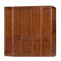 现代中式全实木衣柜 柚木双开门/五门衣柜 绿林木语
