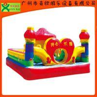 【厂家直销】广州奇欣双人恐龙戏水充气弹跳乐园 充气城堡充气玩具(QX-115G)
