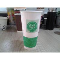 加厚双淋膜奶茶纸杯