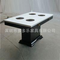 厂家定做 圆形实木火锅桌 酒店聚餐自助火锅桌椅家具 实木桌子
