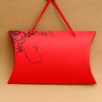 广州厂家可定制枕头盒型内衣文胸包装纸盒 定做异形手提丝巾围巾彩盒