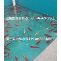 天蓝色鱼池防水漆食品级防水漆游乐场防水漆锦鲤食品级防水漆