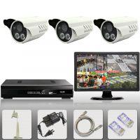 3路安防监控设备套装 网络数字监视器 电视频监控成套系统