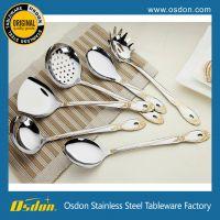 厨房炒菜小工具 不锈钢烹饪勺铲 不锈钢厨具五、六、七件套 促销