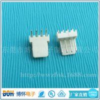 供应MOLEX2510-4P米黄色90度针座 LED插头线