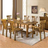 供应榕华家居韩式榆木餐桌椅组合家具