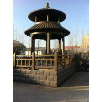 郑州天艺厂家直销古香古色高端大气仿木重檐赞尖式木亭