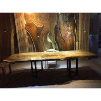 家有名木供应南美胡桃木琥珀木南美花梨木原生态艺术大板餐桌茶桌办公桌会议桌吧台茶桌个性创意台面