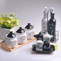 创意欧式 陶瓷罐 简约调料罐 调味盒 欧美风格 11件套装特价