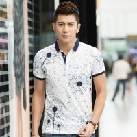 韩版2015春夏男装T恤 翻领男士短袖t恤针织男POLO体恤打底衫