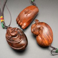 厂家批发 缅甸大红酸枝手把件 老红木雕刻沉水车挂木质挂饰
