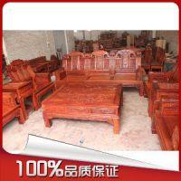 厂家直销古典家具小叶红檀大奔沙发10件套 适放客厅酒店