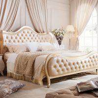 城市之窗洛贝舍 法式婚床奢华描金1.8米皮艺双人床欧式奢华高档大床 CCLUB-S19CA05B