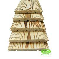 芬兰松防腐木板炭烧拉丝 护墙板桑拿扣板木吊顶 仿古浮雕板背景墙