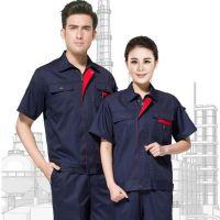 青岛工作服订制|烟台工装定制|胶南短袖纯棉透气工作服劳保服