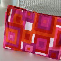 个性休闲创意几何图案手提化妆包 车缝涤纶迷宫化妆零钱包 中可弘世厂家定做直销