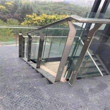 新云 大型商场不锈钢玻璃栏杆 超市专用玻璃立柱ED8-03