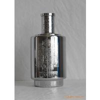 供应高级蚀刻不锈钢大酒瓶/各种花纹蚀刻酒瓶