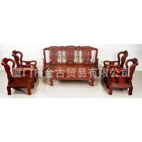 厂家直销 古典红木家具 实木 象头沙发八件套 客厅 红檀 缅甸花梨