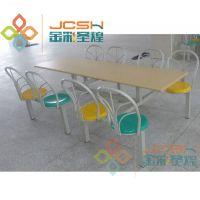 肯德基快餐桌椅 餐厅食堂连体快餐桌椅 餐桌椅厂家批发订做