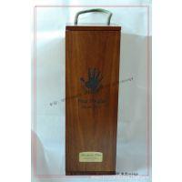 【10年厂家】道格拉斯签名红酒包装木盒 复古木制红酒包装盒定制