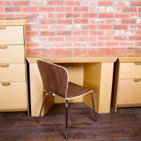 专业定做批发瓦楞纸工艺品个性定制 瓦楞纸板家具简约创意特价电脑桌