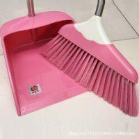 金牡丹扫把簸箕套装 可拆卸组合扫帚畚箕套装 塑料软毛清洁笤帚