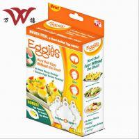 Eggies蛋黄分离器 煮蛋容器 蒸蛋器 鸡蛋型煮蛋器、6个装