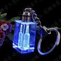 供应福州公司广告促销品、活动纪念品、LED彩色水晶钥匙扣,福建福州厦门水晶