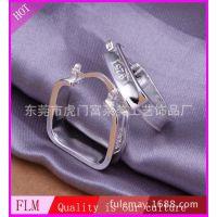 韩国流行饰品 品牌热销精品 925银四方耳扣 气质女孩饰品  FE280