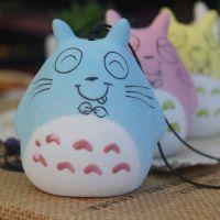 厂家陶瓷礼品小工艺品 多彩龙猫风铃晴天娃娃家居摆设挂件批发