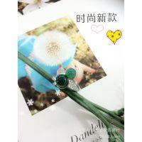 众鑫银饰 S925银 天然玛瑙时尚葫芦戒指 红玛瑙 绿玛瑙 黑玛瑙
