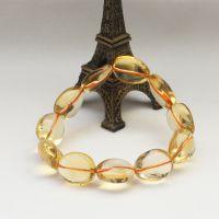 天然收藏级 巴西黄水晶不规则手链专柜正品 饰品女款财源滚滚