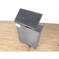 工厂倾斜45度液晶屏升降器 可定做带话筒升降器 19寸电脑显示屏升降器