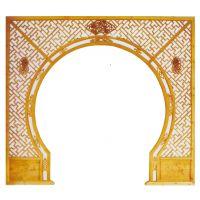 北京厂家订做中式月亮门隔断 实木隔断 仿古玄关