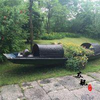 景观装饰船 乌篷木船 木质装饰船 公园景观装饰木船 款式可定制