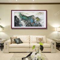 武汉名艺画苑、汉口火车站装饰国画、企业装饰国画裱框安装