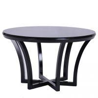 中式简约餐桌 餐厅水曲柳圆餐台 样板房现代新中式实木家具